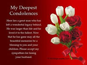 Sympathy Messages for Loss of Husband Wordings and ...