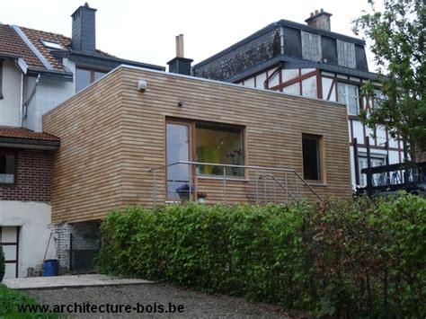 extension maison bois sur pilotis extension bois de 25 m2 montmorency bardage pica peint sur