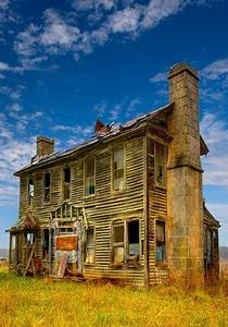 Forgotten Old Farm House. Monster House. A view of the ...
