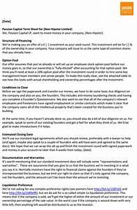 investor term sheet template - interesting angel investment termsheet in plain simple