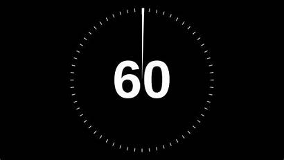 Timer Minute Gifs Countdown Seconds 60 Count