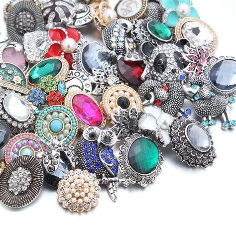 50pcs/lot New 18MM Snap Jewelry Mixed 50 Designs Metal ...