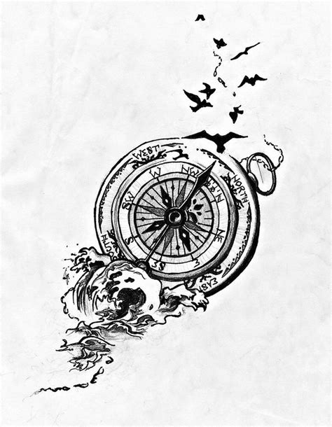 Pocket Compass Drawing at GetDrawings.com | Free for personal use Pocket Compass Drawing of your