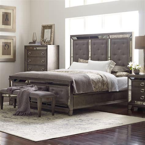 Avalon Bedroom Set by Avalon Furniture Lenox Upholstered Panel Bed Beds At