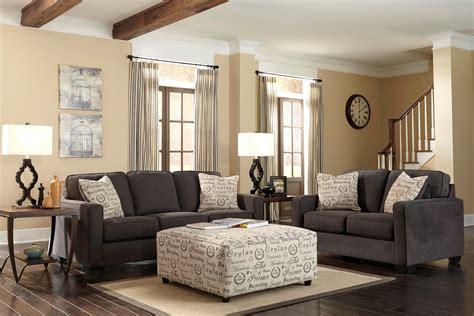 alenya charcoal living room set  ashley