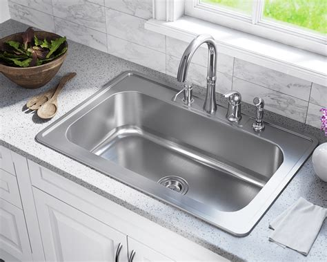 kitchen sinks top mount us1030t single bowl topmount stainless steel sink 6094