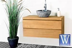 Pied Meuble Salle De Bain Suspendu : meuble de salle de bain en teck massif collection wildwater ~ Teatrodelosmanantiales.com Idées de Décoration