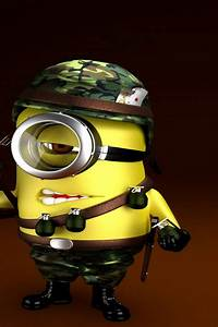 Minion Soldier Wallpaper for iPhone 4S