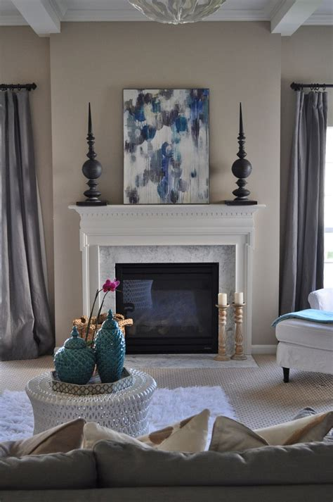 gray living room turquoise neutral family room white