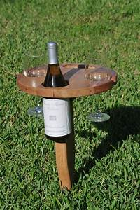Build a portable wine table for picnics DIY projects for
