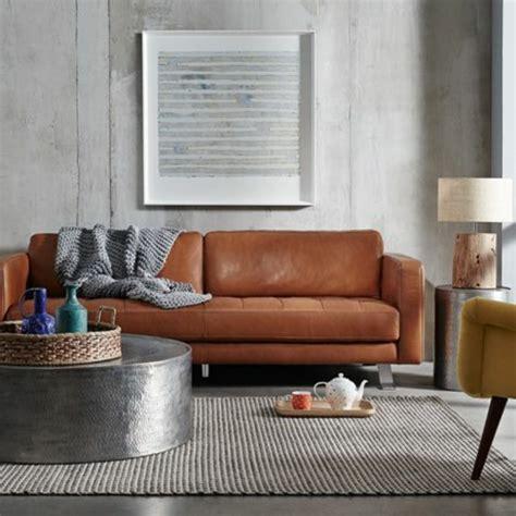changer couleur canapé cuir 60 idées comment adopter la couleur caramel à la maison