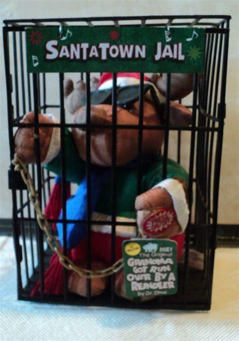 santa town jail animated reindeer  cage animatronic