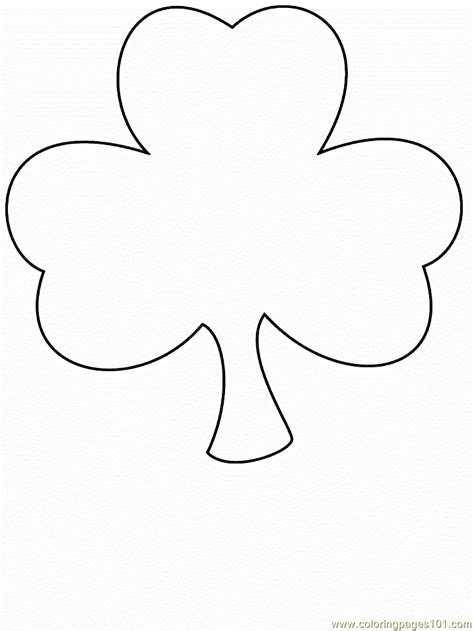 clover coloring page  simple shapes coloring pages coloringpagescom