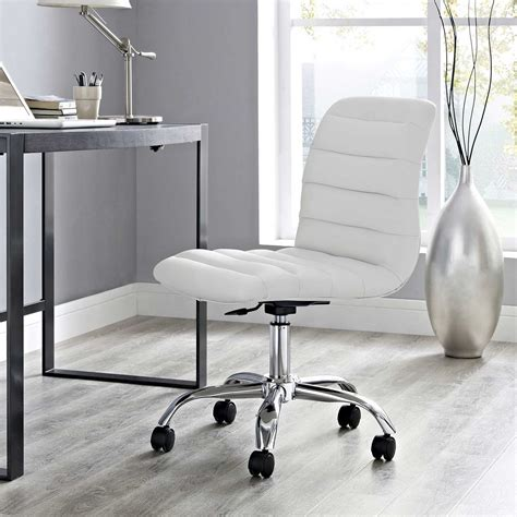 modway ripple armless mid back office chair white mw eei