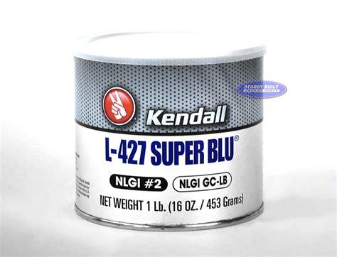 Kendall Super Blu Blue Trailer Hub Wheel Bearing Grease Tub