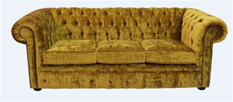 gold settee chesterfield 3 seater settee modena gold velvet sofa offer