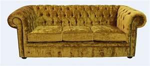 Gold velvet sofa gold crushed velvet sofa tub chair for Gold velvet sectional sofa