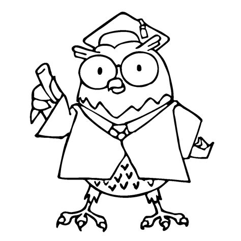 Owl Coloring Pages For Kids Printable Coloring Pages 9