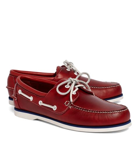Brooks Brothers Boat Shoes by Brooks Brothers Midsole Boat Shoe In Red For Men Lyst