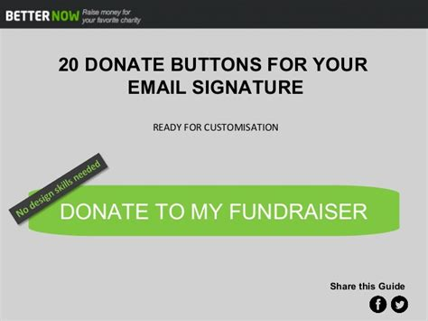 20 Donate Buttons For Your Email Signature
