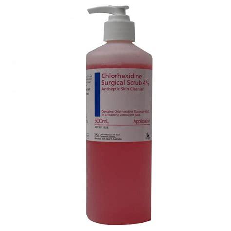 Chlorhexidine Gluconate Chlorhexidine Gluconate 4 Surgical Scrub 500ml Creams