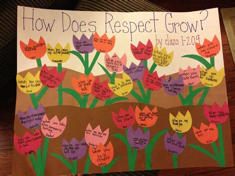 Respect Lesson Activity How Does Respect Grow?  Teaching  Pinterest  Respect Activities