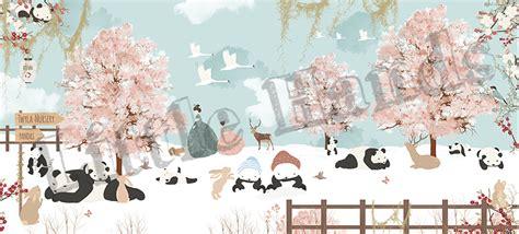 winter  japan mural wallpaper