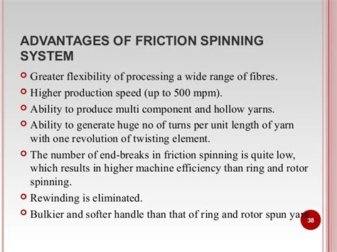 friction spinning technology ms