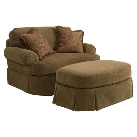 overstock chairs and ottomans broyhill mckenna stucco beige chair and ottoman set