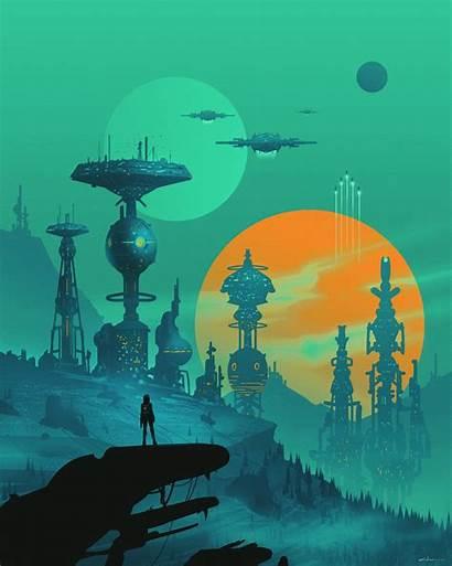 Space Station Future Cyborg Sci Fi