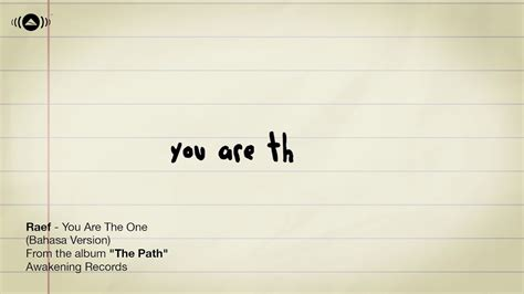 Lagu You Are The One Raef