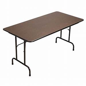 Correll folding table 29 x 60 walnutblack by office depot for Office depot folding tables