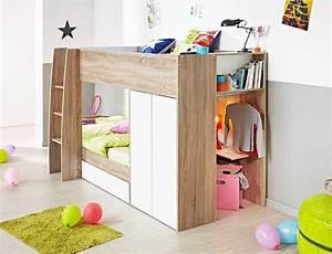 Ikea Betten Kinder : ikea hochbett mit schreibtisch im oben betten komplett mit ablagen an den betten und ~ Orissabook.com Haus und Dekorationen