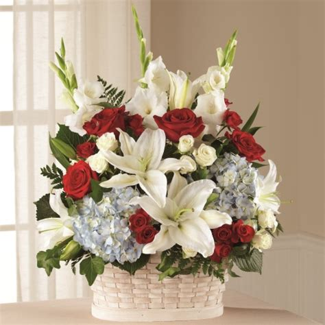 greater glory sympathy basket funeral flowers