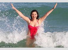 Bethenny Frankel in Miami in her bikini with Kim