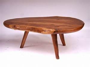 Table Basse Bois : table basse en bois d 39 olivier circa 1950 paul bert serpette ~ Teatrodelosmanantiales.com Idées de Décoration