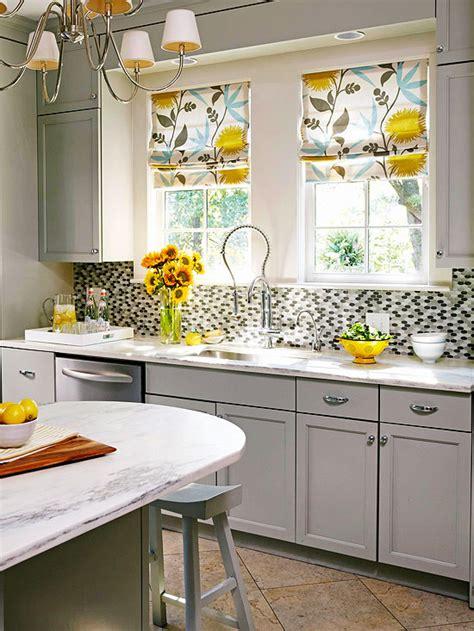 gray  yellow kitchen contemporary kitchen bhg
