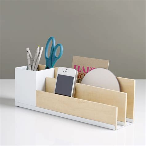 diy inspiration desk organizer use balsa wood or