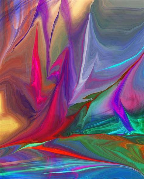 abstract 100211 cor e forma fractais pintar e cores