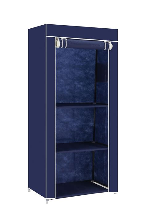 Cloth Storage Wardrobe by Single Canvas Clothes Storage Organiser Wardrobe Cupboard