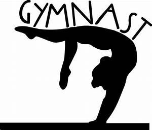 gymnastics clipart silhouette free - ClipartFest