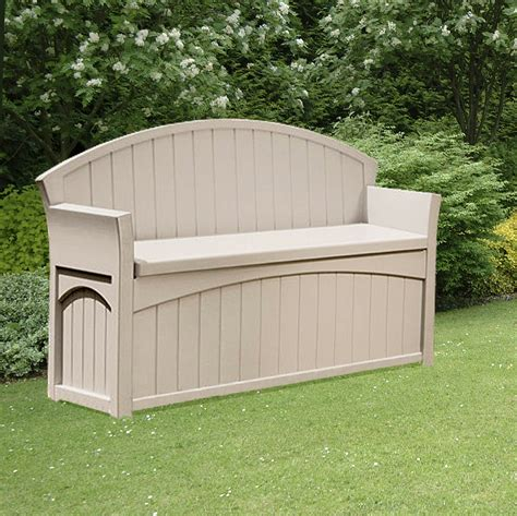 patio garden storage bench w134cm