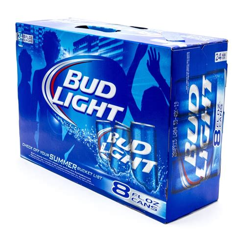 Bud Light 8oz Can 24 Pack Beer Wine And Liquor