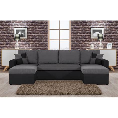 canapé d angle panoramique convertible orlando u canape d angle convertible panoramique noir gris