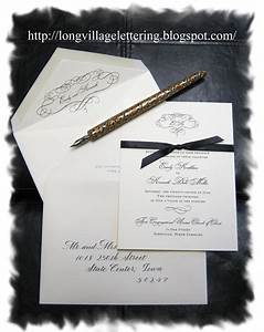 wedding invitation envelope with traditional copperplate With copperplate calligraphy wedding invitations