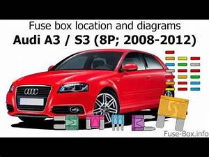 2008 Audi A3 Fuse Box : fuse box location and diagrams audi a3 s3 8p 2008 ~ A.2002-acura-tl-radio.info Haus und Dekorationen