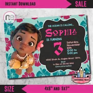 SALE!! moana party, moana, moana invitation, moana birthday, moana printable, disney princess, moana, moana supplies, moana birthday card