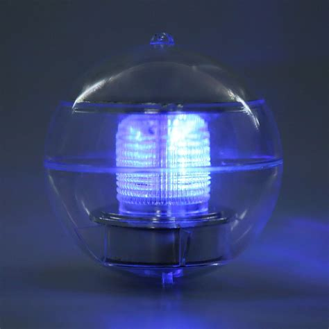 solar powered led light l floating pool bulb