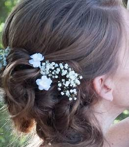 Small White Flower Hair Pins Set Of Two Wedding