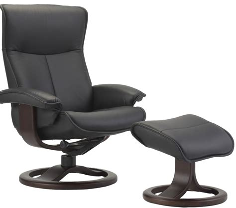 leather lounge chair with ottoman fjords senator ergonomic leather recliner chair ottoman